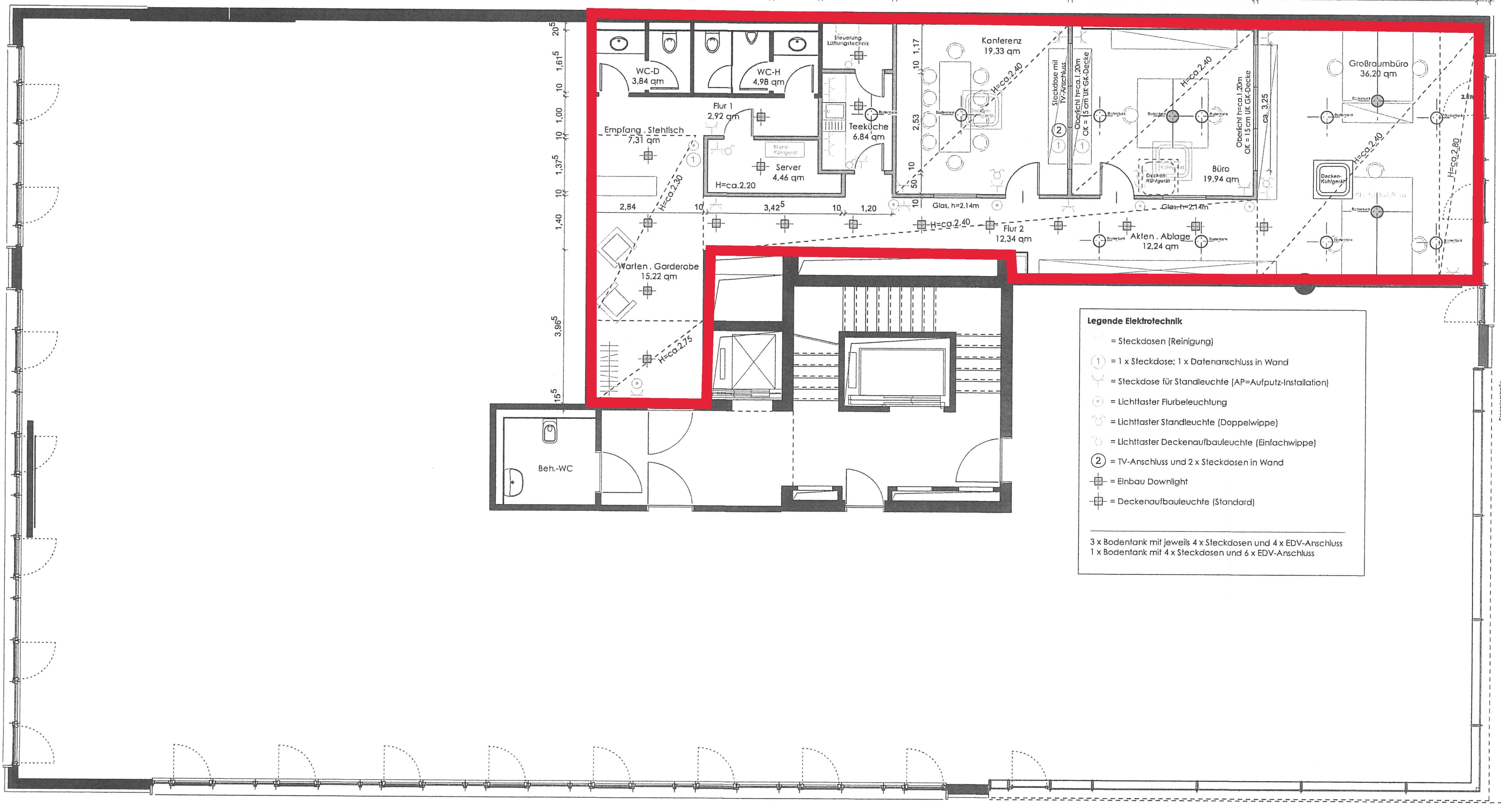 Büro im 1. OG mit 162 m²   BÜX Offices   {Teeküche büro grundriss 77}